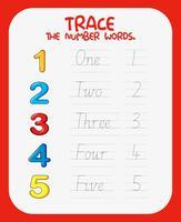 Arbeitsblätter für die mathematische Nummerierung
