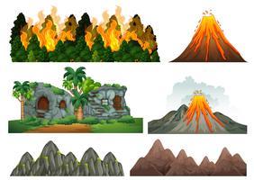 Eine Reihe von Naturkatastrophen vektor