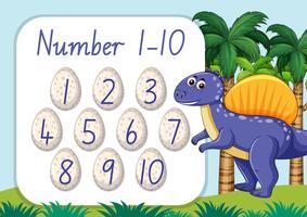 Zählen Sie die Vorlage für mathematische Zahlen vektor