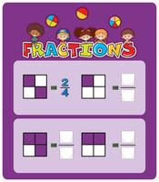 Ett mattefraktionsark vektor