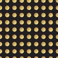 Universalschwarzes und Goldnahtloses Muster, Fliesen.