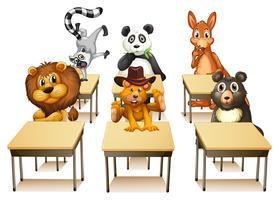 Tiere im Klassenzimmer vektor