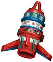 Raketenschiff mit Flügeln vektor