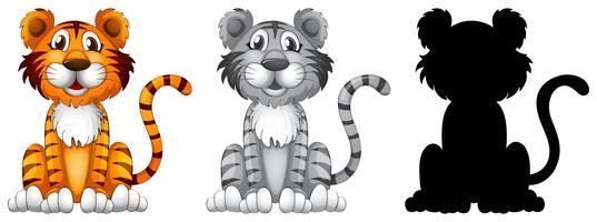 Set Tigerzeichen vektor