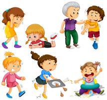 Mädchen und Jungen in verschiedenen Aktivitäten