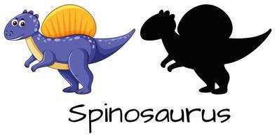 Set av spinosaurus design vektor