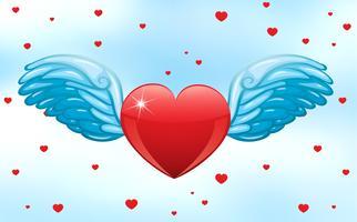 Fliegendes Herz vektor