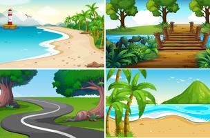 Eine Reihe von Naturlandschaft