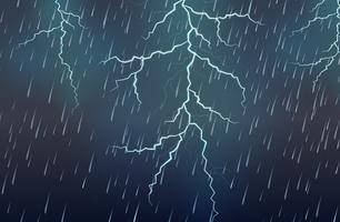 Blixtslag och regn åskväder