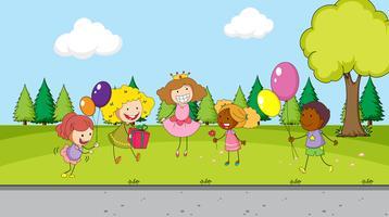 Kinderfeier im Park