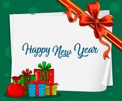 Frohes neues Jahr-Karte vektor