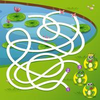 En groda labyrint spel vektor