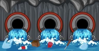 Abwasserrohrsystem aus Haushalt