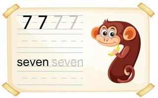 Netter Affe Nummer sieben