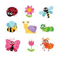 Tierzeichendesign, Insektenvektordesign vektor