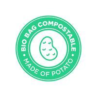Bio Bag Kompostierbar aus Kartoffeln. vektor