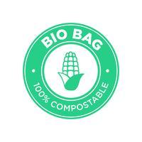 Bio Bag 100% kompostierbar aus Mais. vektor