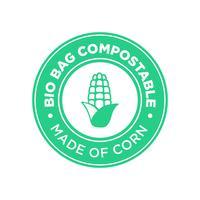 Bio Bag Kompostierbar aus Mais. vektor