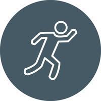 Läufer-Symbol-Vektor-Illustration vektor