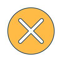 Avbryt ikon vektor illustration