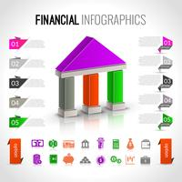 Bank finansiella infographics vektor