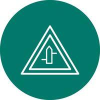 Vektor-Querstraßen von rechts nach links Verkehrsschild-Symbol