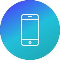 Telefoncell Ikon Vektor Illustration