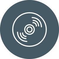 Kompakt disk ikon vektor illustration