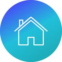 Haus-Symbol-Vektor-Illustration