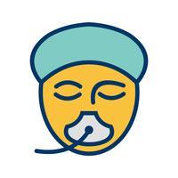 Vektor-Anästhesie-Symbol