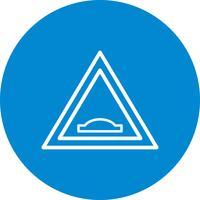Vektor-Buckelbrücke Verkehrsschild-Ikone