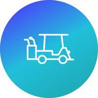 Vektor-Golfwagen-Symbol