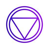 Vektor Abstand zu stoppen Verkehrsschild Symbol