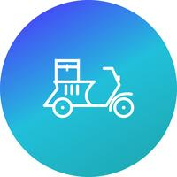 Vektor-Lieferungs-Motorrad-Symbol