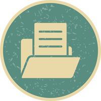 Vektordokument im Ordnersymbol