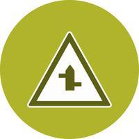 Vektor-Querstraßen von links nach rechts Schild-Symbol