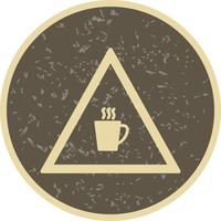 Vektor-Cafeteria-Verkehrsschild-Ikone vektor