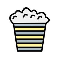 Vektor Popcorn Ikon