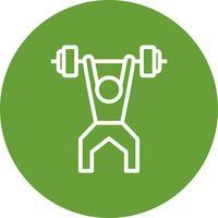 Gewichtheben-Ikonen-Vektor-Illustration vektor