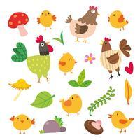 Kyckling vektor karaktärsdesign