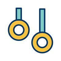 Ring-Ikonen-Vektor-Illustration vektor