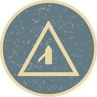 Vektor mindre kors väg från vänster vägskylt ikon