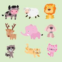 djur vektor karaktärsdesign