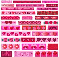 Valentinstag Washi Clipart