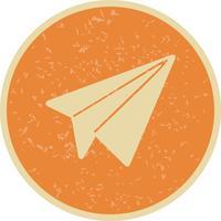 Papper Plane Ikon Vektor Illustration