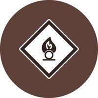Vektor-Oxidationsmittel Verkehrsschild-Symbol