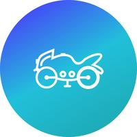 vektor tung cykel ikon