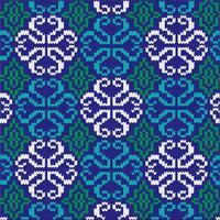utsmyckat stickat mönster