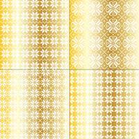 Metallisches Gold und weiße nordische Schneeflockenmuster