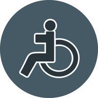 Vektor-Behinderten-Symbol vektor
